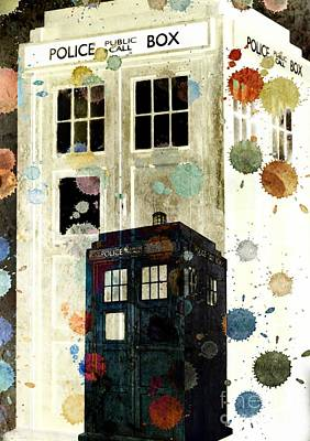 The Tardis II Art Print by Angelica Smith Bill