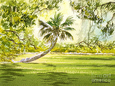 Painting - The Tarzan Tree - Wakulla Springs State Park by Bill Holkham