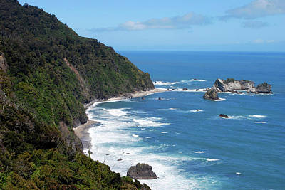 Knights Beach Photograph - The Tasman Sea, Karamea, New Zealand by Lynn Seldon