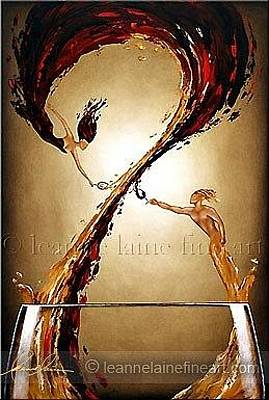 Wine Rack Painting - The Taste Of DevotionWine Art Painting by Leanne Laine