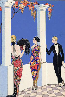 The Taste Of Shawls Art Print by Georges Barbier