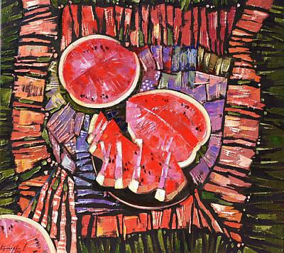 The Taste Of Summer. Art Print by Anastasija Kraineva