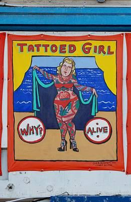 The Tattoed Girl Art Print