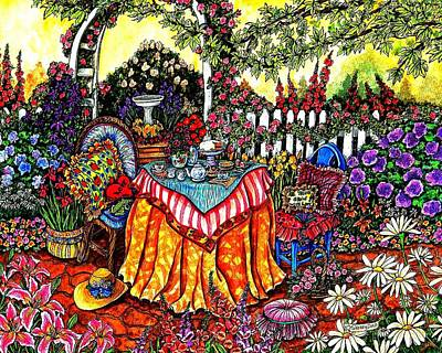 Teapot Painting - The Tea Party by Sherry Dole