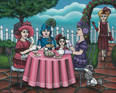 Tea Service Painting - The Tea Party by Victoria De Almeida