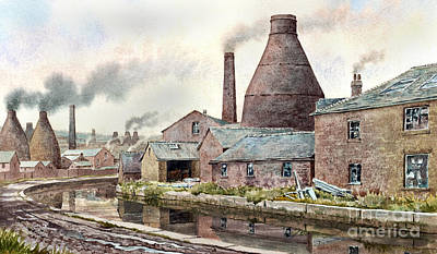Teapot Painting - The Teapot Factory by Anthony Forster