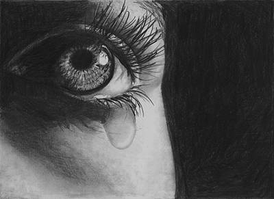 Tears Drawing - The Tear 2 by Andrew Dyson
