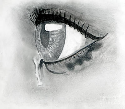 Tears Drawing - The Tears by Tina Dufrene