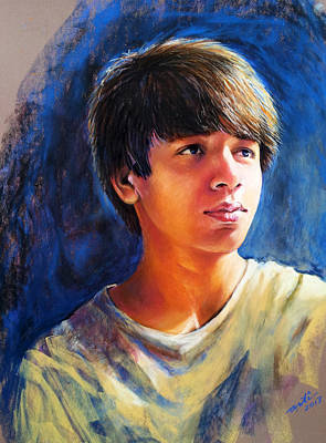 . Soft Pastel Painting - The Teenager by Arti Chauhan