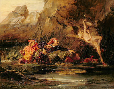 Sprite Painting - The Tempest by William Bell Scott