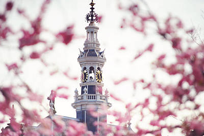 Photograph - The Temple Bell Dies Away. Pink Spring In Amsterdam by Jenny Rainbow