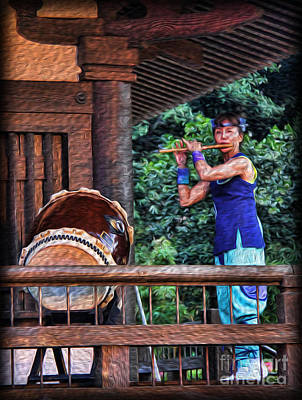 Photograph - The Temple Flutist by Lee Dos Santos