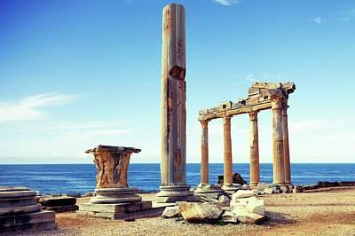 Byzantium Photograph - The Temple Of Apollo by Wladimir Bulgar