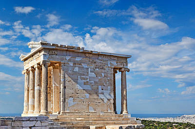 The Temple Of Athena Nike - Greece Art Print by Constantinos Iliopoulos