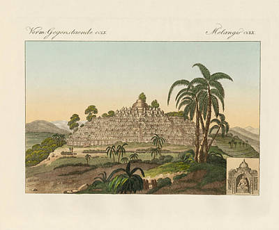 The Temple Of Buddha Of Borobudur In Java Art Print by Splendid Art Prints