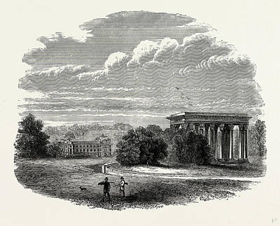 Concord Drawing - The Temple Of Concord, Audley End, Uk, England by Litz Collection