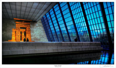 Times Square Photograph - The Temple Of Dendur by Lar Matre