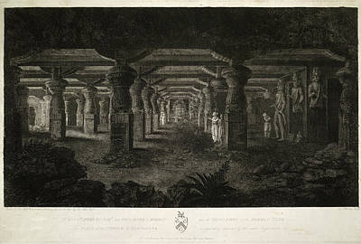 Illustration Technique Photograph - The Temple Of Elephanta by British Library