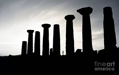 Pillars Of Hercules Photograph - The Temple Of Hercules At Agrigento In Sicily  by David Lyons