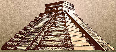 Wild And Wacky Portraits Rights Managed Images - The Temple of Kukulcan Chichen Itza   Royalty-Free Image by Del Gaizo