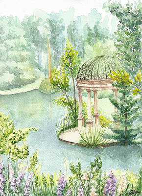 Longwood Gardens Painting - The Temple Of Love - Longwood Gardens by Anna Giller