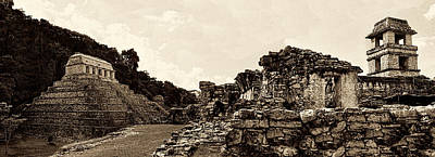 Photograph - The Temple Of The Inscriptions And The Palace Of Palenque by Weston Westmoreland
