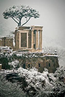 The Temple Of Vesta  Art Print