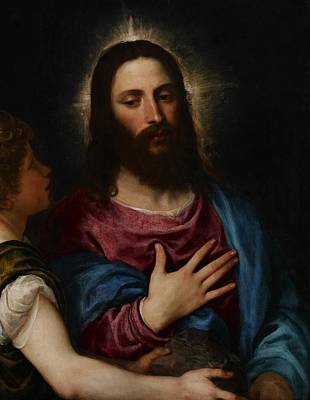 Son Of God Painting - The Temptation Of Christ by Titian
