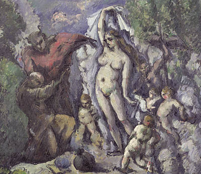Erotica Painting - The Temptation Of Saint Anthony by Paul Cezanne