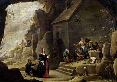 Monster Photograph - The Temptation Of St. Anthony Oil On Canvas by David the Younger Teniers