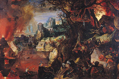 Monster Photograph - The Temptation Of St. Anthony Oil On Copper by Pieter Schoubroeck