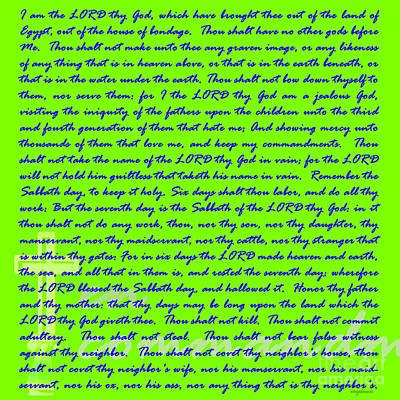 Jesus Christ Digital Art - The Ten Commandments 20130213bm148 by Wingsdomain Art and Photography