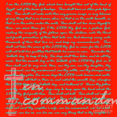 Jesus Christ Digital Art - The Ten Commandments 20130213bp128 by Wingsdomain Art and Photography