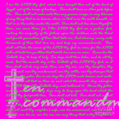Jesus Christ Digital Art - The Ten Commandments 20130213bp68 by Wingsdomain Art and Photography