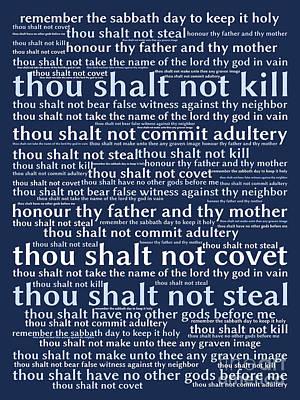 The Ten Commandments 20130625bwco80 Art Print