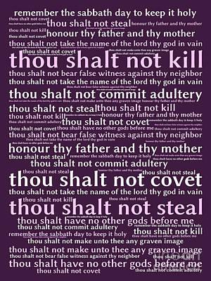 The Ten Commandments 20130625bwma Art Print