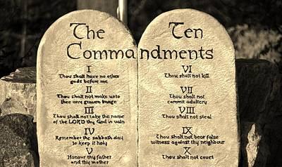 Obey Digital Art - The Ten Commandments  by Cynthia Guinn