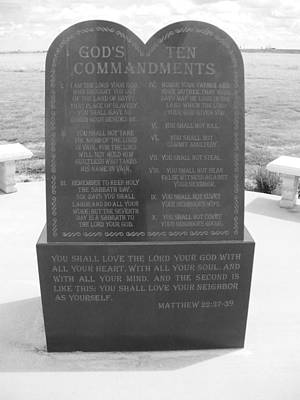 Photograph - The Ten Commandments by Jeffrey Randolph