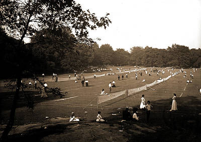 Tennis Drawing - The Tennis Courts, Central Park, New York, Tennis by Litz Collection