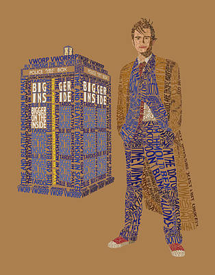 The Tenth Doctor Art Print by Christina Fixemer