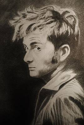 Drawing - The Tenth Doctor by Emily Maynard