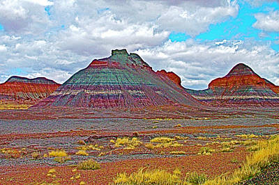 The Tepees In Petrified Forest National Park-arizona Art Print by Ruth Hager