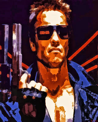 Digital Art - The Terminator by Joe Misrasi