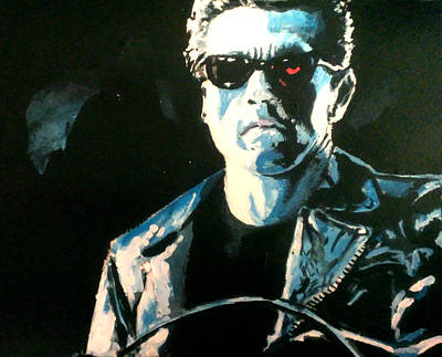 Arnold Schwarzenegger Painting - The Terminator by Paul Mitchell