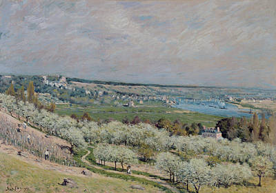 Olive Painting - The Terrace At Saint Germain by Alfred Sisley