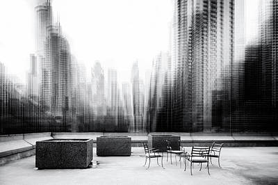 Abstract Skyline Wall Art - Photograph - The Terrace by Roswitha Schleicher-schwarz