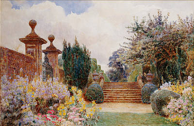 The Terrace Steps, Penshurst, 1903 Art Print by George Samuel Elgood