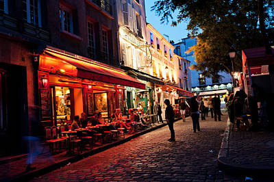 The Terraces Of Montmartre Paris Art Print by David Giral