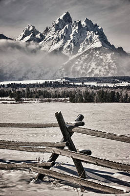 The Teton Mountain Range Art Print