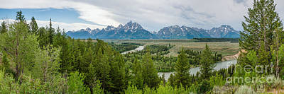 Design Turnpike Vintage Farmouse - The Tetons Wyoming by Abe Pacana
